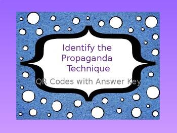 QR Codes - Identify the Propaganda Technique
