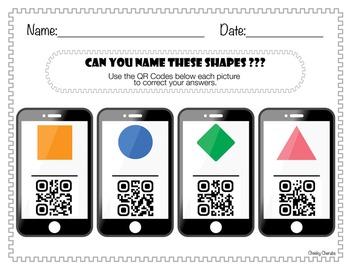 QR Code - Identifying Shapes (freebie)