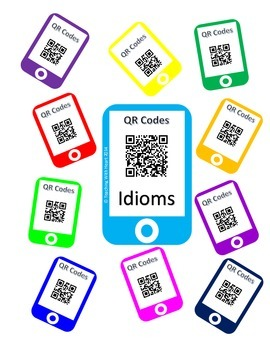 QR Codes Idioms Task Cards