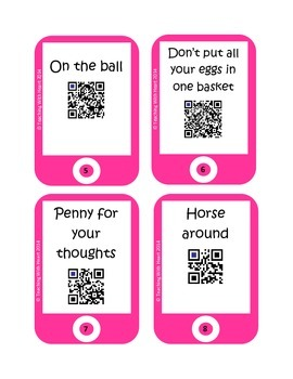 QR Codes Idioms Task Cards 2