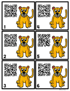 QR Codes - Lions (African and mountain)