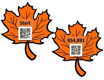 QR Codes Leaf Addition Hunt