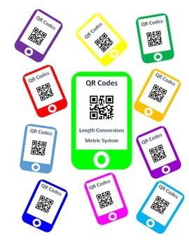 QR Codes Length Conversion Task Cards - Metric System
