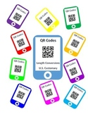 QR Codes Length Conversion Task Cards - U.S. Customary