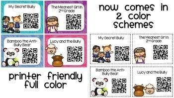QR Codes Listening Center Bundle Bully Stories