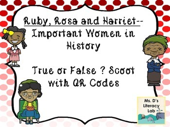 Ruby, Rosa and Harriet--QR Codes