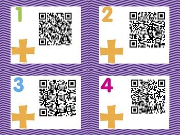 QR Codes - Math 2 digit addition