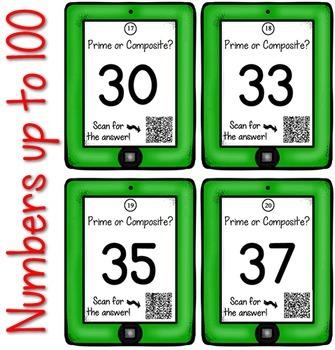 QR Codes: Math Prime & Composite Task Cards