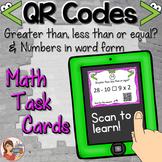 QR Codes: Math Task Cards {2 sets}