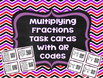 QR Codes Math Task Cards: Multiplying Fractions