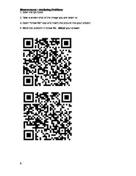 QR Codes Measurement Process Skills