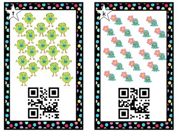 QR Codes ~ Monster ~ Alien Counting with QR Codes