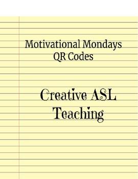 QR Codes - Motivational Mondays