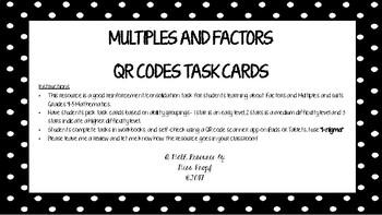 QR Codes Multiples and Factors