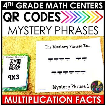QR Codes Multiplication Facts August Math Center