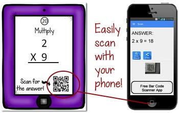 QR Codes: Multiplication Math Task Cards