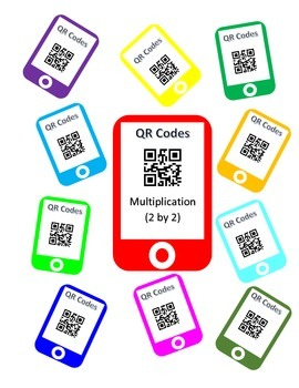 QR Codes Multiplication Task Cards (2 by 2)