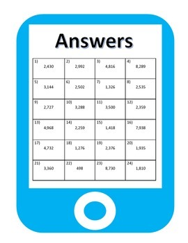 QR Codes Multiplication Task Cards (3 by 1)