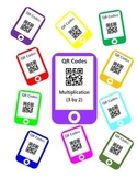 QR Codes Multiplication Task Cards (3 by 2)
