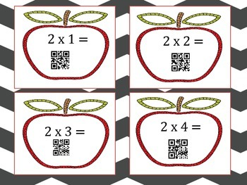 QR Codes Multiplication  ~ Task Cards/ Posters