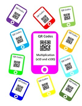 QR Codes Multiplication Task Cards (x10 and x100)
