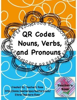 Nouns, Verbs, and Pronouns QR Codes