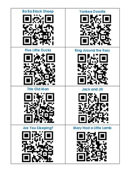 QR Codes - Nursery Rhymes