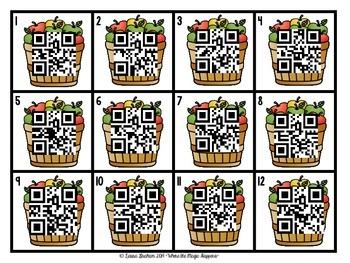 QR Codes Ordering Numbers  FREEBIE!