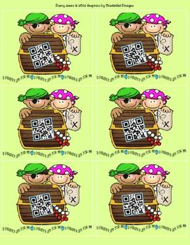 QR Codes - Pirate Cards for Student Numbers