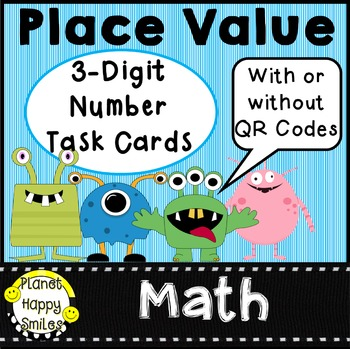 QR Codes Place Value 3 Digit Numbers