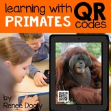 QR Codes - Primates (monkeys, chimpanzees, gorillas, orangutans)