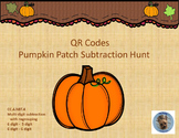 QR Codes Pumpkin Patch Subtraction Hunt