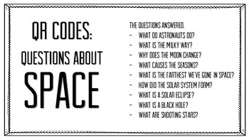 QR Codes - Questions About Space