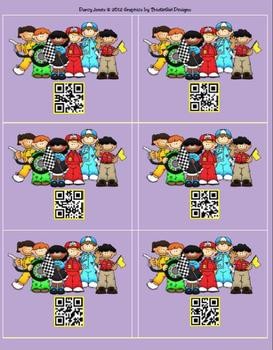 QR Codes - Racing Cards for Student Numbers