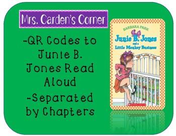 QR Codes Read Aloud Junie B. Jones and a Little Monkey Business
