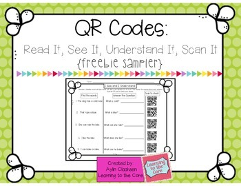 QR Codes: Read It, See It, Understand It, Scan It Activity {Freebie!}