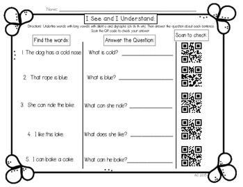 QR Codes: Read It, See It, Understand It, Scan It Activity {Freebie!}