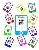 QR Codes Reducing Fractions Task Cards