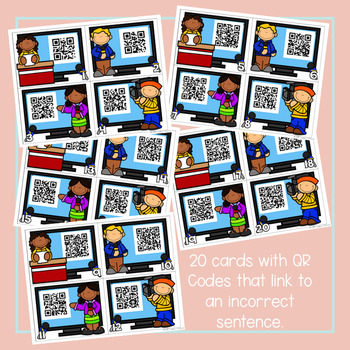 QR Codes Reporting on Sentences: Editing Sentences
