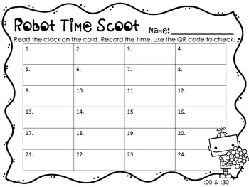 QR Codes: Robot Time Scoot (Valentine Theme) :00 and :30
