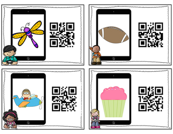 QR Codes: Say It, Find It, Scan It- Compound Words Literacy Center