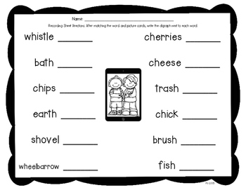 QR Codes: Say It, Find It, Scan It- Digraphs Literacy Center