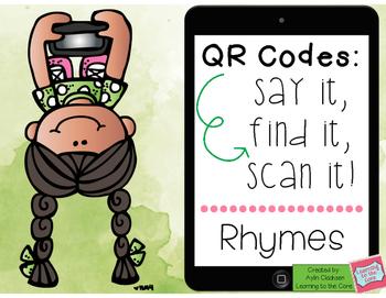 QR Codes: Say It, Find It, Scan It: Rhymes