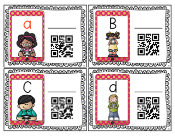 QR Codes: Say It, Match It, Scan It- ABC Practice Literacy Centers
