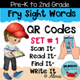 QR Codes Scan It-Read It-Find It-Write It- Fry Sight Words