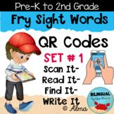QR Codes Scan It-Read It-Find It-Write It- Fry Sight Words