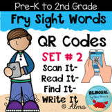 QR Codes Scan It-Read It-Find It-Write It- Fry Sight Words Set 2