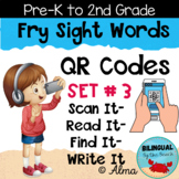 QR Codes Scan It-Read It-Find It-Write It- Fry Sight Words Set 3