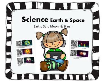 QR Codes Science Earth, Sun, Moon, & Stars