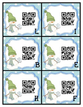 QR Codes - Snowy Friends Tally Marks Preschool Kindergarten Math Center